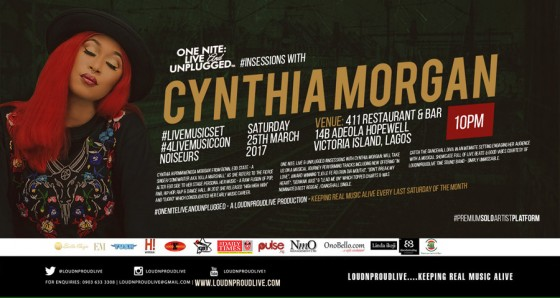 ONE NITE: Live & UNPLUGGED #InSessions with CYNTHIA MORGAN #LiveMusicSet