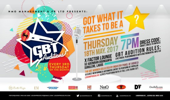 GBT Auditions May 2017