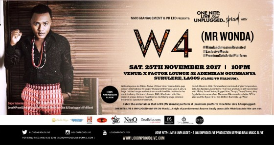W4 (MR Wonda) Headlines One Night Live & Unplugged